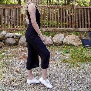 Black Culotte Style Jumpsuit